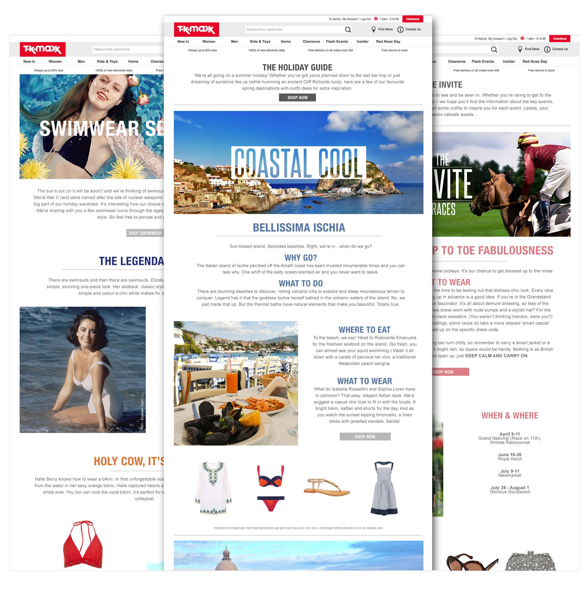 TK Maxx Website Design | Ashuk Ali
